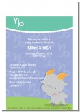 Goat | Capricorn Horoscope - Baby Shower Petite Invitations