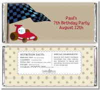 Go Kart - Personalized Birthday Party Candy Bar Wrappers