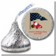 Go Kart - Hershey Kiss Birthday Party Sticker Labels thumbnail