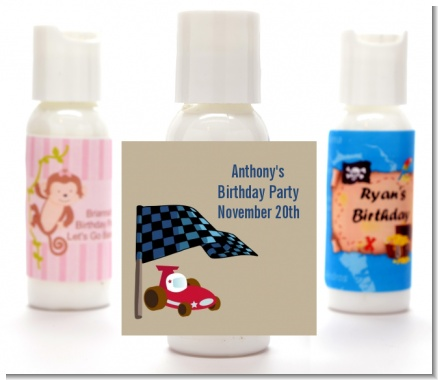 Go Kart - Personalized Birthday Party Lotion Favors