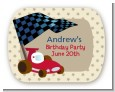 Go Kart - Personalized Birthday Party Rounded Corner Stickers thumbnail