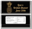 Gold Glitter Pineapple - Personalized Bridal Shower Candy Bar Wrappers thumbnail