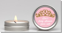 Gold Glitter Pink Tiara - Baby Shower Candle Favors