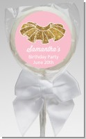 Gold Glitter Tutu - Personalized Birthday Party Lollipop Favors