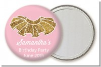 Gold Glitter Tutu - Personalized Birthday Party Pocket Mirror Favors