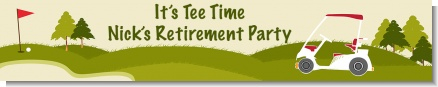 Golf Cart - Personalized Retirement Party Banners