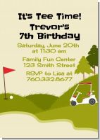 Golf Cart - Birthday Party Invitations