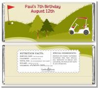Golf Cart - Personalized Birthday Party Candy Bar Wrappers