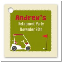 Golf Cart - Personalized Birthday Party Card Stock Favor Tags
