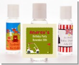 Golf Cart - Personalized Birthday Party Hand Sanitizers Favors