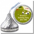 Golf Cart - Hershey Kiss Birthday Party Sticker Labels thumbnail