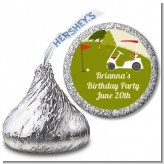Golf Cart - Hershey Kiss Birthday Party Sticker Labels