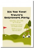 Golf Cart - Birthday Party Petite Invitations