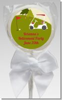 Golf Cart - Personalized Birthday Party Lollipop Favors