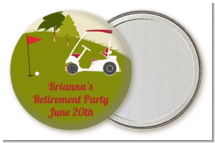 Golf Cart - Personalized Retirement Party Pocket Mirror Favors