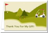 Golf Cart - Birthday Party Thank You Cards