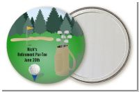 Golf - Personalized Retirement Party Pocket Mirror Favors