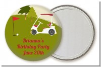 Golf Cart - Personalized Birthday Party Pocket Mirror Favors