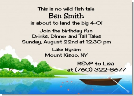 Gone Fishing - Birthday Party Invitations