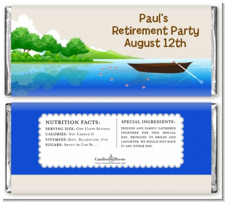 Gone Fishing - Personalized Retirement Party Candy Bar Wrappers