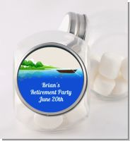 Gone Fishing - Personalized Birthday Party Candy Jar