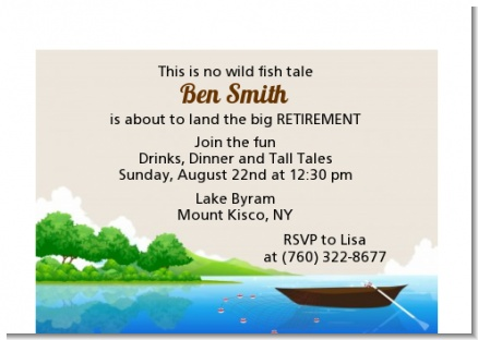 Gone Fishing - Retirement Party Petite Invitations