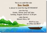 Gone Fishing - Retirement Party Invitations