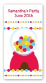 Gumball - Custom Rectangle Birthday Party Sticker/Labels
