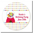 Gumball - Round Personalized Birthday Party Sticker Labels thumbnail