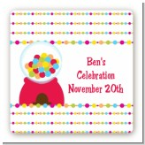 Gumball - Square Personalized Birthday Party Sticker Labels