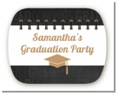 Grad Keys to Success - Personalized Graduation Party Rounded Corner Stickers