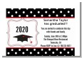 Graduation Cap Black & Red - Graduation Party Petite Invitations thumbnail