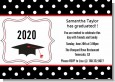 Graduation Cap Black & Red - Graduation Party Invitations thumbnail