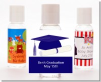 Graduation Cap Blue - Personalized Graduation Party Hand Sanitizers Favors