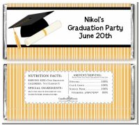Graduation Cap - Personalized Graduation Party Candy Bar Wrappers
