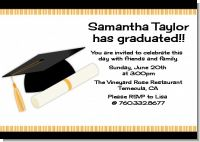 Graduation Cap - Graduation Party Invitations