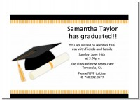 Graduation Cap - Graduation Party Petite Invitations