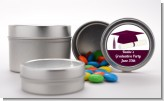 Graduation Cap Maroon - Custom Graduation Party Favor Tins