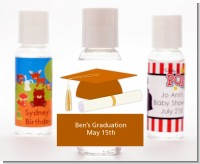 Graduation Cap Orange - Personalized Graduation Party Hand Sanitizers Favors