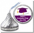 Graduation Cap Purple - Hershey Kiss Graduation Party Sticker Labels thumbnail