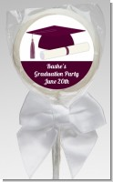 Graduation Cap Purple - Personalized Graduation Party Lollipop Favors