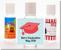 Graduation Cap Red - Personalized Graduation Party Hand Sanitizers Favors