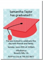Graduation Cap Red - Graduation Party Petite Invitations