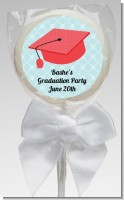 Graduation Cap Red - Personalized Graduation Party Lollipop Favors