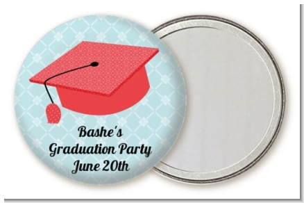 Graduation Cap Red - Personalized Graduation Party Pocket Mirror Favors