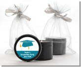 Graduation Cap Teal - Graduation Party Black Candle Tin Favors