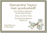 Graduation Diploma - Graduation Party Invitations