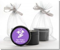 Grapes - Bridal Shower Black Candle Tin Favors