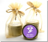 Grapes - Bridal Shower Gold Tin Candle Favors