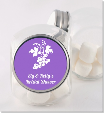 Grapes - Personalized Bridal Shower Candy Jar
